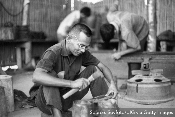 Vietnamese man in a re-education camp (other camps were more like prisons).