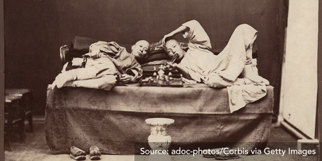 Image 2: Opium smoking in China