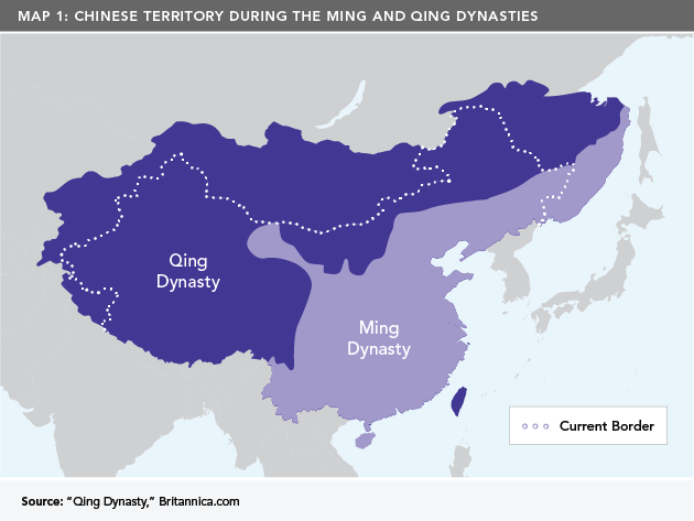 Map 1: Chinese Territory During the Ming and Qing Dynasties