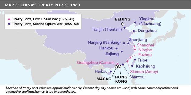 Map 3: China's Treaty Ports, 1860